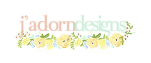 spotlight on J'Adorn Designs' colorful new brand - old logo // illiah manger of c&v creative