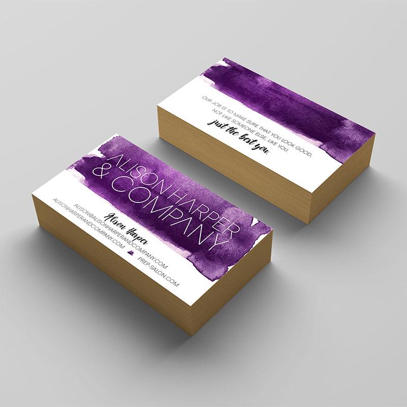 Alison Harper Co. Branding - Business Card // C&V Creative