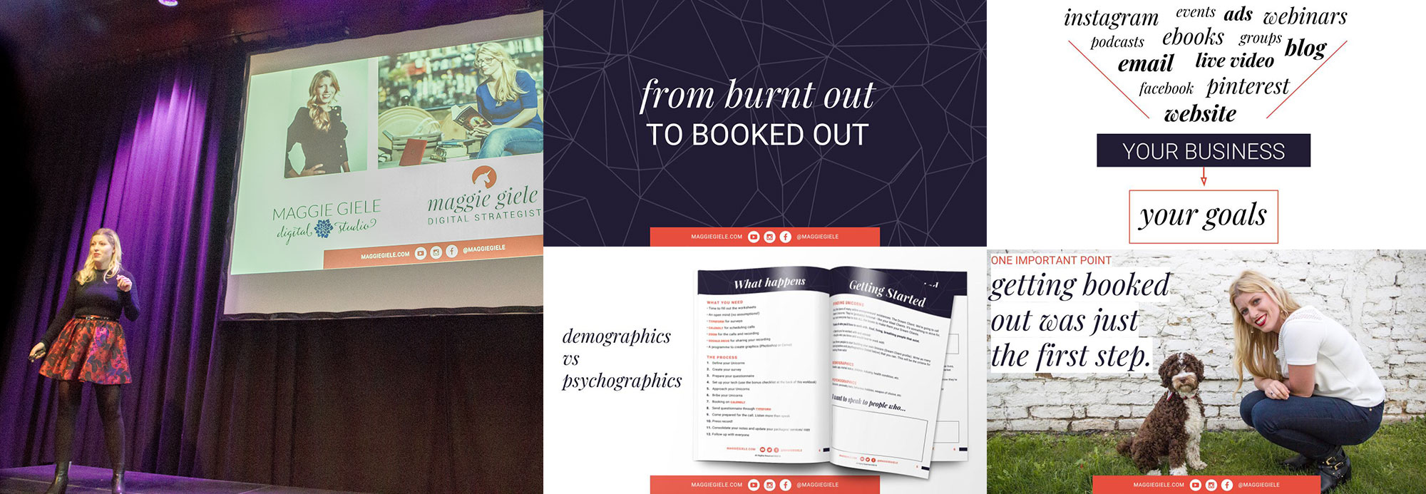 Maggie Giele's presentation: Fom Burnt Out to Booked Out