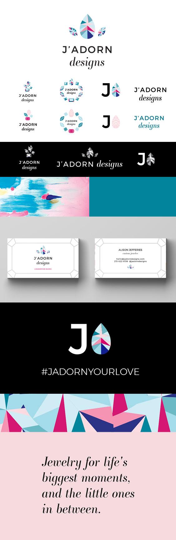 J'Adorn Designs Branding Board // C&V Creative
