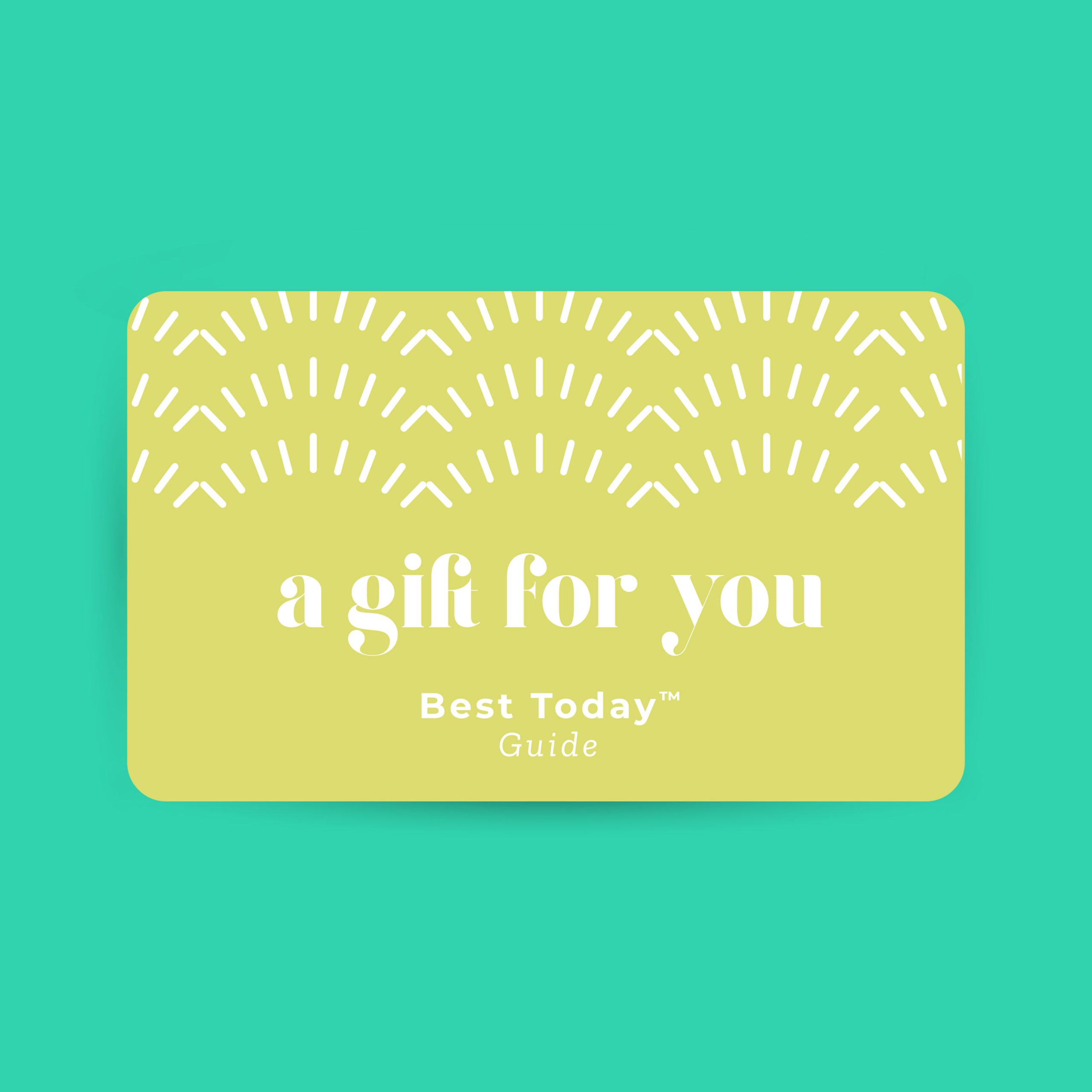 gift card designed for the Best Today brand by C&V