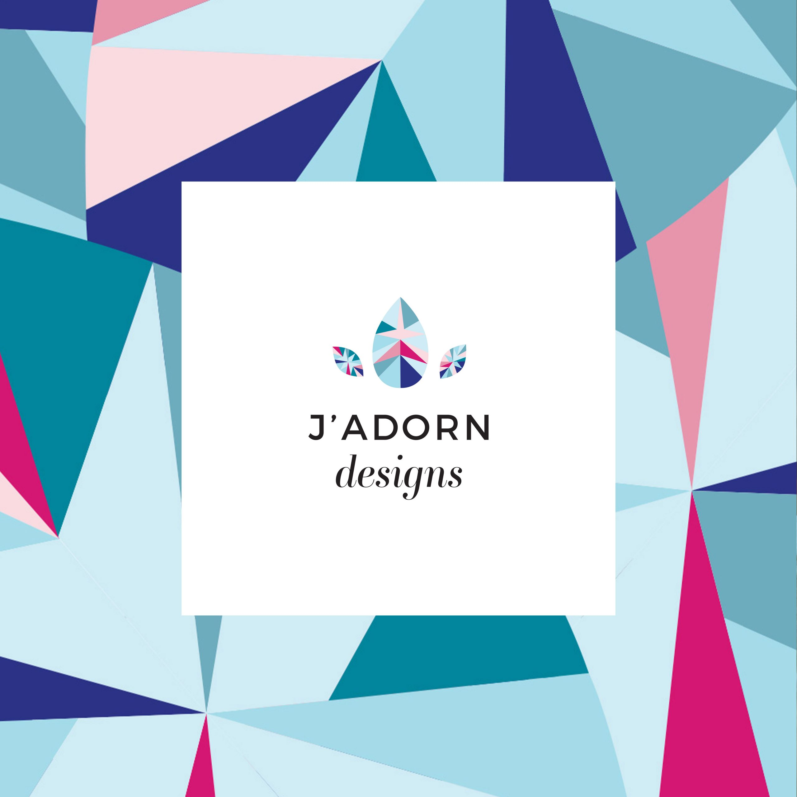 J'Adorn Designs pattern and logo, designed by C&V
