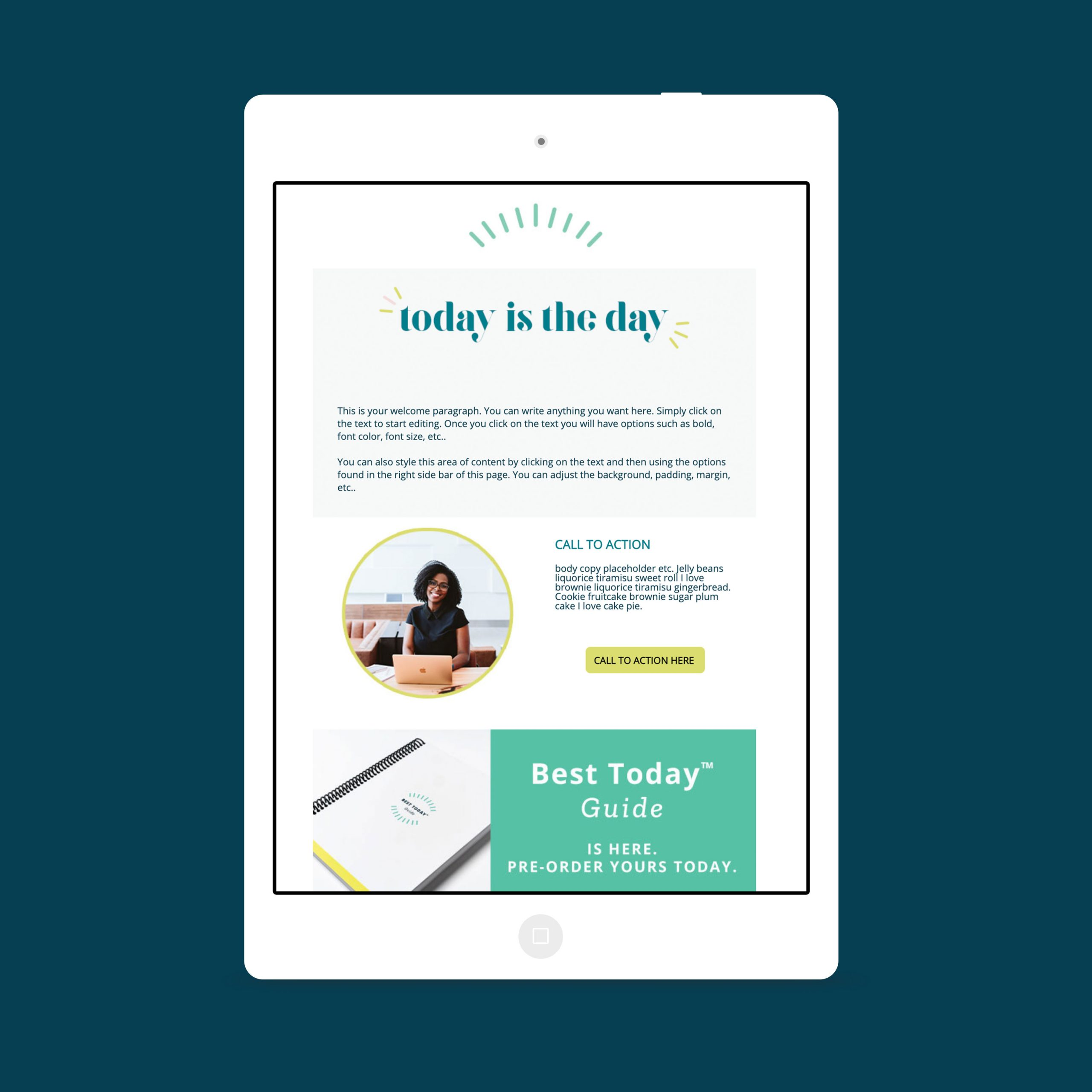 Email template designed for the Best Today™ brand with ActiveCampaign by C&V