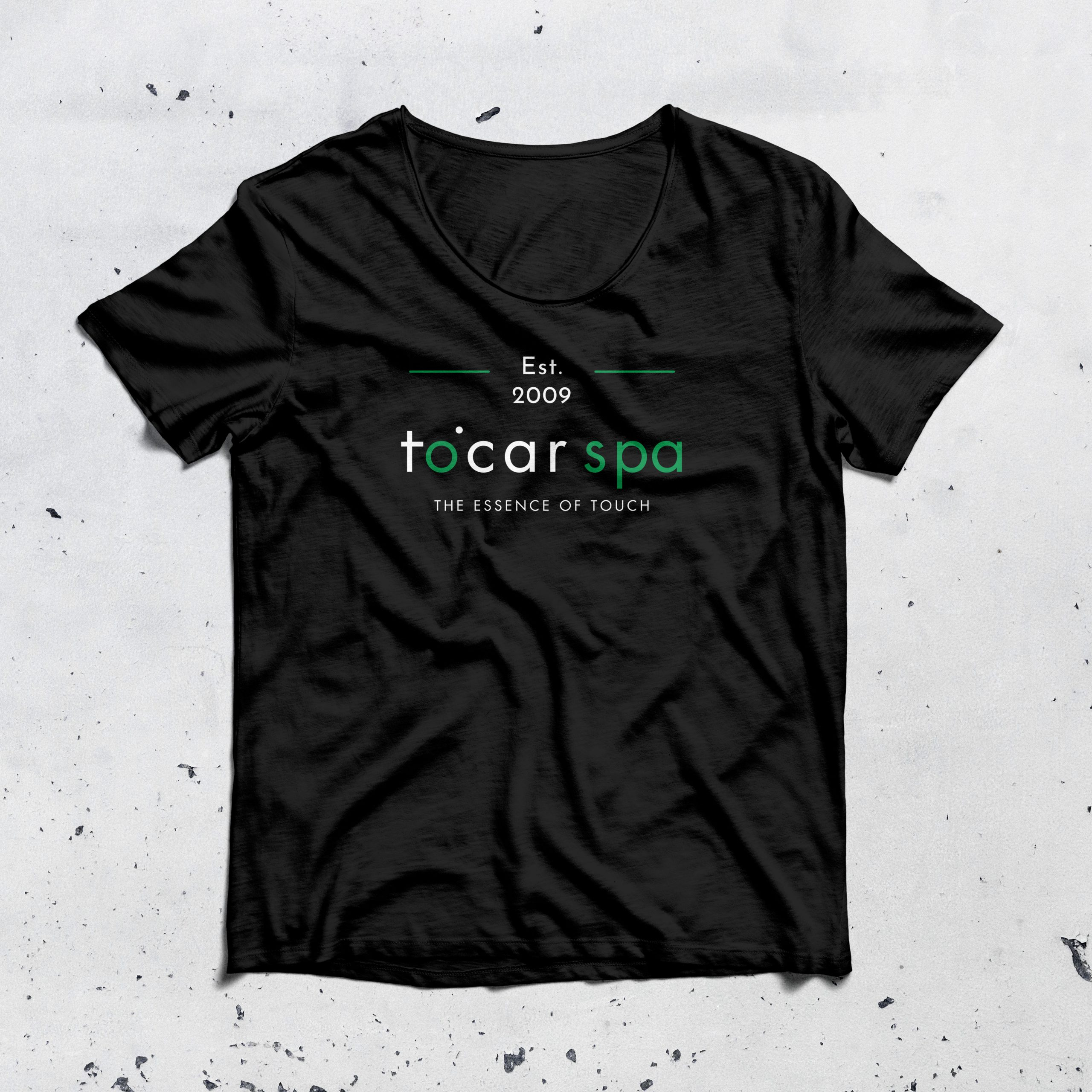 T-shirt design for Tocar Spa by C&V