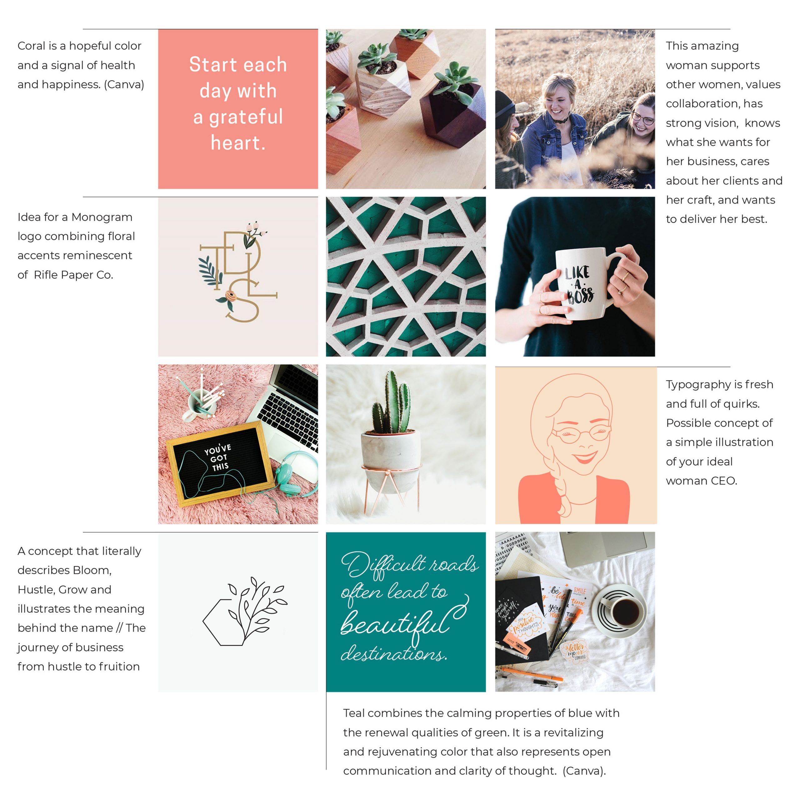 Vision Board designed for Bloom Hustle Grow by C&V