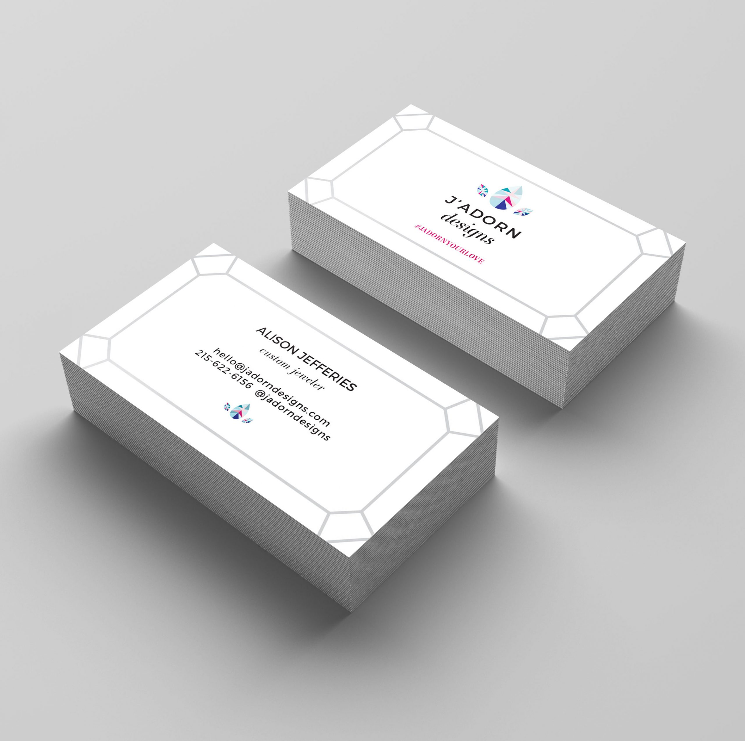 J'Adorn Designs business card design by C&V